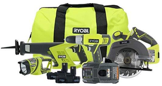 Ryobi P883 One+ 18V Lithium Ion Cordless Contractor's Kit